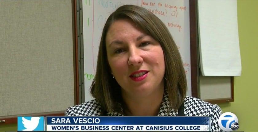 Sara Vescio on channel 7 news