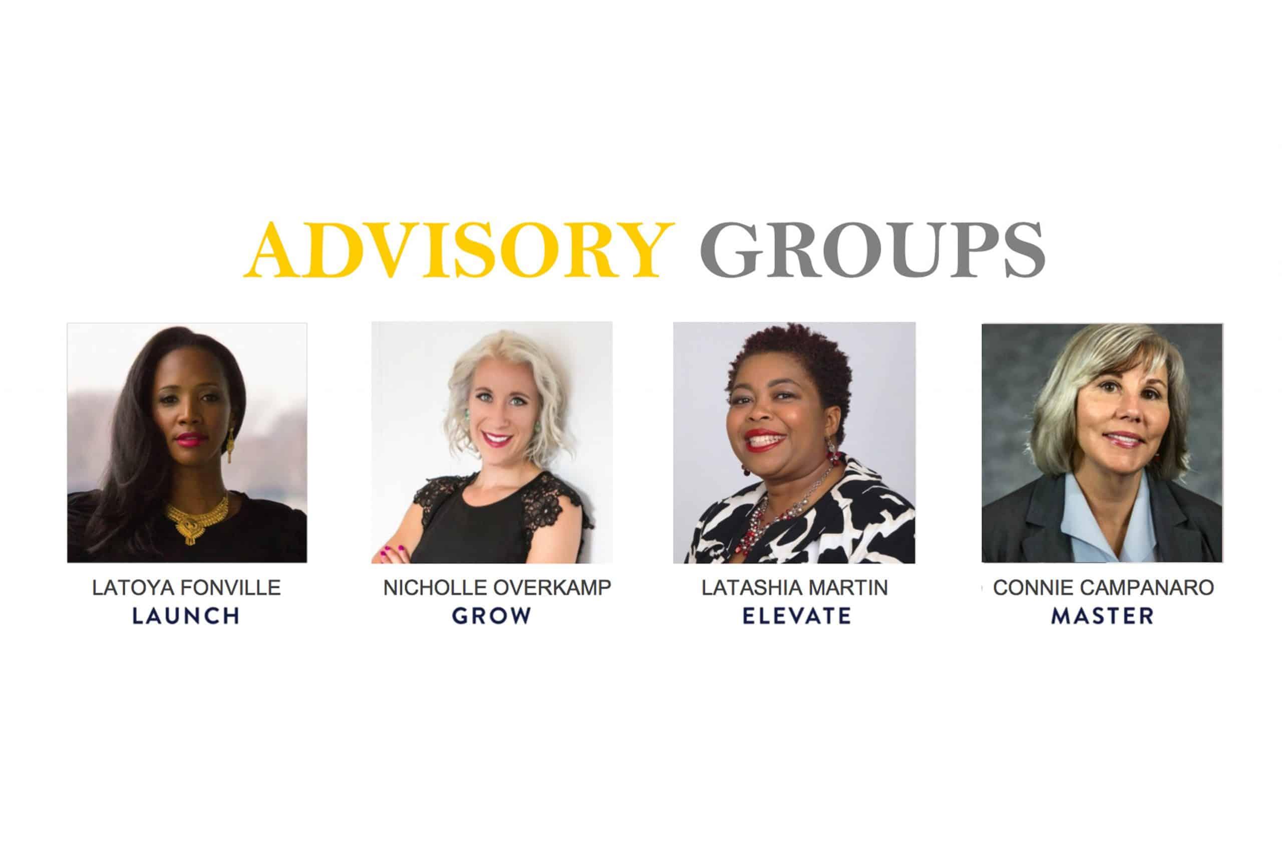photos of advisory group facilitators