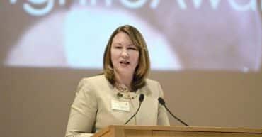Sara Vescio speaking